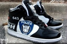Custom Kicks – Transformers Barricade Nike Dunks