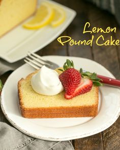 This Glazed Lemon Pound Cake definitely brightened the day. There's something about a lemon dessert that provides a little sunshine and a lot of deliciousness. Lemon Desserts, Homemade Desserts, Lemon Recipes, Best Dessert Recipes, Cupcake Recipes, Easy Desserts, Cupcake Cakes, Lemon Cakes, Cupcakes