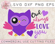 Owl Always Love You svg dxf png eps Cutting Files and Designs for Silhouette Cameo and Cricut Explore Air Cutting Machines. Commercial Use License Included! Girl Valentine SVG, Boy Valentine SVG, Cupid Svg, Arrow SVG, Be Mine SVG, Cute SVG, Funny SVG, DIY, SVG Quote, SVG Sayings, Girl Designs, Pretty SVG, Mom Life, Boy Mom, Girl Mom, Mama Bear, SVG Design, SVG File, Mug Design, Shirt Design, Cutting Designs, Cutting File, Cricut Air, Small Businesses