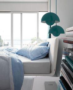 Beds with upholstered bedframe Filo bed