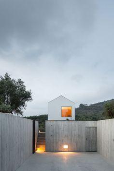 Fonte Boa House is a minimalist residence located in Fonte Boa, Portugal, designed by João Mendes Ribeiro. Arch House, Concrete Architecture, Interior Architecture, Industrial Architecture, Rural House, My House, Contemporary Interior Design, Home Interior Design, Villa