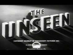 1945 The Unseen Spooky Movie Dave Movie Archive, Paramount Pictures, Mystery, Youtube, Movies, Films, Movie, Film, Youtubers