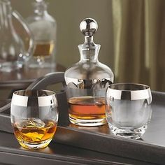 If you are looking to add a touch of class to your home bar, the Madison Avenue  Whiskey Decanter set is the perfect addition.  Its combines the best of both of 60′s style and today to create a classic look that fits perfectly in a home bar.