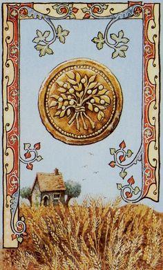 Ace of Pentacles - Old English Tarot