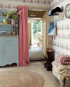 Laura Ashley Pantry Patterned Wallpaper