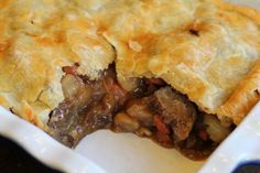 Easy Comfort Food Recipes - Beef Pot Pie | One Hundred Dollars a Month