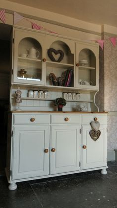 Ducal Pine Dresser Sideboard - Kitchen Unit - Hand Painted Shabby Chic