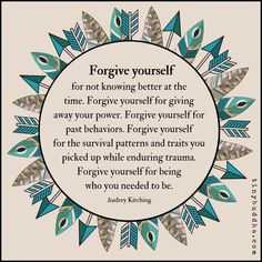 Welcome to Self-Care Sunday! Remember to give yourself a little extra TLC. This article helps you learn the importance of self-care and the key to forgiving yourself when life gets the better of you. Take care everyone! Mental And Emotional Health, Emotional Healing, Emotional Abuse, Forgive Yourself Quotes, Quotes About Forgiving Yourself, Audrey Kitching, Inner Child Healing, Tiny Buddha, Encouragement