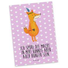 Postkarte Fuchs Indianer aus Karton 300 Gramm  weiß - Das Original von Mr. & Mrs. Panda.  Diese wunderschöne Postkarte aus edlem und hochwertigem 300 Gramm Papier wurde matt glänzend bedruckt und wirkt dadurch sehr edel. Natürlich ist sie auch als Geschenkkarte oder Einladungskarte problemlos zu verwenden. Jede unserer Postkarten wird von uns per hand entworfen, gefertigt, verpackt und verschickt.    Über unser Motiv Fuchs Indianer  Die Fox Edition ist eine besonders liebevolle Kollektion…