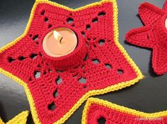 "christmas projects made with newspaper | Crochet Candle Holder ""Christmas Star"" by ... 