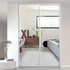 1 Porte De Placard Coulissante Miroir 62,2 X 245,6 Cm Valla