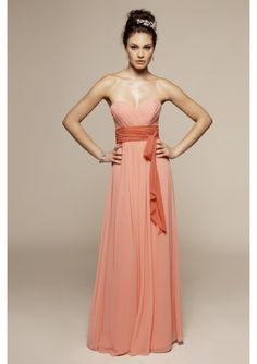 Simple Charm beautiful Chiffon Sweetheart A-Line bridesmaid dress