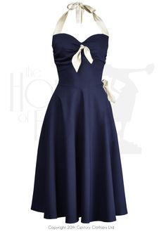 Coquette 1950s Style Swing Dress in nautical