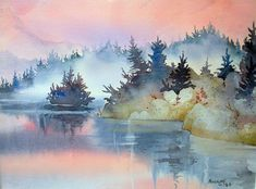 Mist At Sunrise Painting by Teresa Ascone