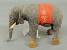 antique elephant pull toy