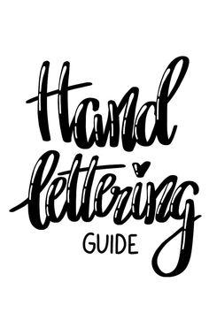 Dieser Lettering Guide enthält praktische Tipps & Tricks zum Hand-Lettering, Materialempfehlungen und eine Schritt für Schritt Anleitung zum Digitalisieren.