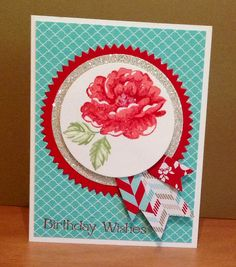 Stippled Blossoms, Starburst and Banner Framelits by Stampin Up!