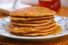 A quick, easy and absolutely delicious recipe for healthy whole wheat pancakes.