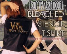 Ever wanted to make your own t-shirts? Check out this easy, step-by-step DIY method using bleach on dark fabric!