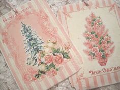 shabby chic holidays | SHABBY CHIC CHRISTMAS Gift Tags No41 - Holiday - Victorian - Roses ...