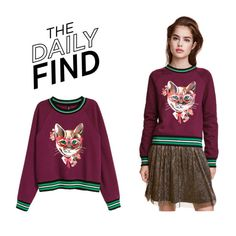 """The Daily Find: H&M Sweatshirt"" by polyvore-editorial ❤ liked on Polyvore featuring DailyFind"