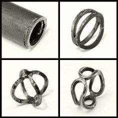 Double Bent Band - iron by Blind Spot Jewellery