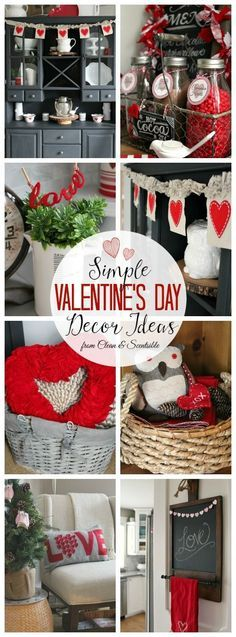 Love all of these simple Valentine's Day decor ideas! // http://cleanandscentsible.com