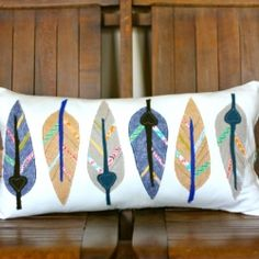 Make a Feather Pillow inspired by a Land of Nod print (template for feathers included in post)