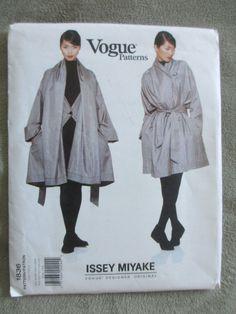 Vogue Designer Original Pattern 1836 by Issey Miyake - Coat Szs 8 to 18 Uncut #VoguePatterns