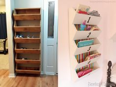 Mud room cubbies-doesnt take up too much room. easy to make