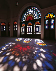 Influx of light & colors, Iran - Kashan - Tabatabaie House
