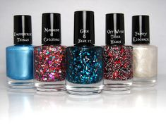 Down The Rabbit Hole Collection - Alice in Wonderland Nail Polish Glitter Frost