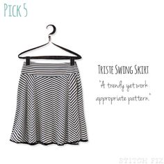 Triste Chevron Striped Swing Skirt - I like the print of this skirt.  I normally don't wear swing skirts, but I thought this could work well with some things in my closet.