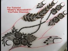 Beautiful Flowery Henna Mehndi Design Patch Tattoo Tutorial - YouTube