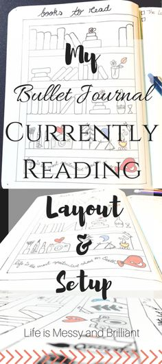 Bullet Journal: Currently Reading (Books-to-Read) Layout/Setup