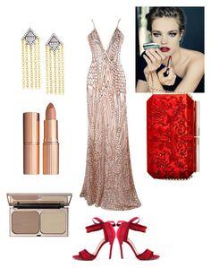 """Effortless glamour #redcarpet"" by hayelerbil on Polyvore featuring Freida Rothman, Charlotte Tilbury and Oscar de la Renta"