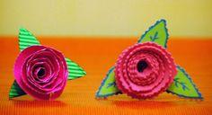 Rosas cartulinas corrugada
