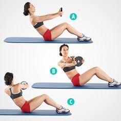 Chica haciendo ejercicios con mancuernas