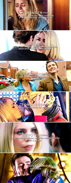The Doctor + Rose Tyler. The best kind of love, because it's all the kinds at once.