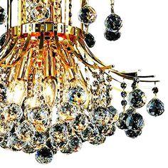 "Toureg 19"" Wide Gold and Crystal 10-Light Chandelier - #39V33   Lamps Plus Blown Glass Chandelier, Chandelier Lighting, Crystal Ball, Clear Crystal, Sloped Ceiling, Ceiling Lights, Candelabra, Chrome Finish, Silver Color"