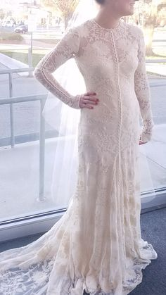 wedding dress with long sleeves