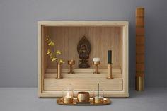 keita suzuki creates shinobu buddhist altar for younger generations - designboom   architecture