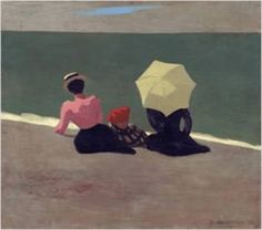 On the Beach - Sur la Plage by Felix Vallotton - Colorful Les Nabis Art Art Print by ArtExpression - X-Small Oil Painting Frames, Paintings, Magic Realism, Illustration, Art Moderne, French Art, Figure Painting, Strand, Creative Art