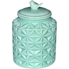 Turquoise Vintage Ceramic Kitchen Flour Canister Cookie Jar w/... (170 CNY) ❤ liked on Polyvore featuring home, kitchen & dining, food storage containers, flour cannister, flour canister, ceramic flour canister, ceramic cookie jars and ceramic cannisters