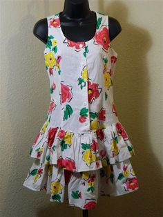 Rocking Dress Rage 80s Peplum Tank Dress by VintageBaublesnBits, $35.00