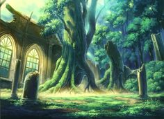 Florest and Garden, Background, Anime Background, Anime Scenery, Visual Novel…