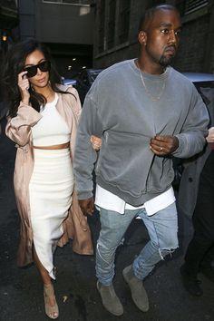 Kanye West Wears Haider Ackermann Sweatshirt, Fear Of God Tee and Bottega Veneta Boots UpscaleHype Kanye West Outfits, Kanye West Style, Kanye West Fashion, Kim Kardashian Kanye West, Kim And Kanye, Urban Fashion, Trendy Fashion, Mens Fashion, Fashion Outfits