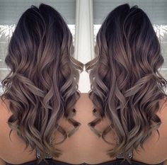 black to ashy brown ombre