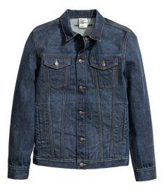 Denim Jacket   Dark denim blue   Men   H&M US