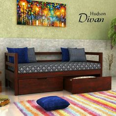 Bedroom sofa Online India Fresh Pin by Woodenstreet On Divan In 2019 – Indian Living Rooms Ethnic Home Decor, Indian Home Decor, Indian Bedroom Decor, Indian Home Interior, Home Interior Design, Home Decor Furniture, Furniture Design, Indian Furniture, Sofa Cumbed Design